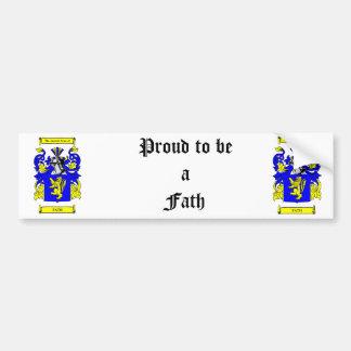 Escudo de armas de Fath Etiqueta De Parachoque