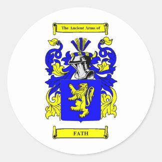 Escudo de armas de Fath Pegatina Redonda