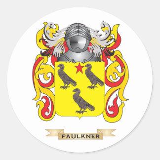 Escudo de armas de Faulkner Pegatina Redonda