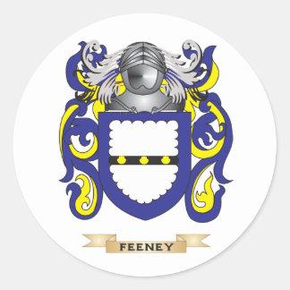 Escudo de armas de Feeney Pegatina Redonda