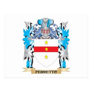 Escudo de armas de Ferretto - escudo de la familia Postales