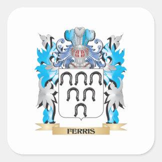 Escudo de armas de Ferris - escudo de la familia Pegatinas Cuadradases Personalizadas