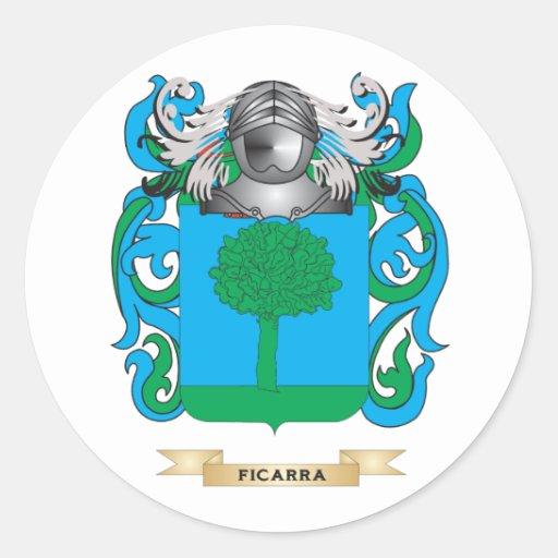 Escudo de armas de Ficarra Pegatina Redonda