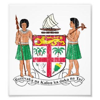 Escudo de armas de Fiji Fotografia
