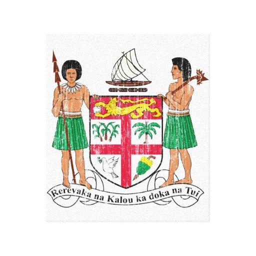 Escudo de armas de Fiji Impresiones De Lienzo