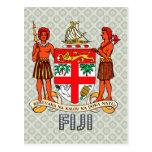 Escudo de armas de Fiji Postales