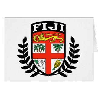 Escudo de armas de Fiji Tarjeta