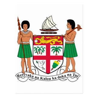 Escudo de armas de Fiji Tarjetas Postales