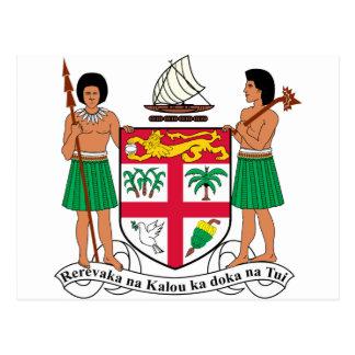 Escudo de armas de Fiji Postal
