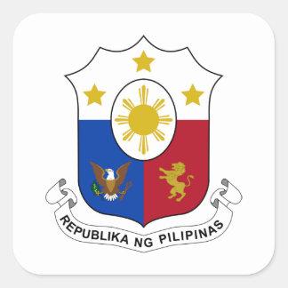 Escudo de armas de Filipinas Pegatinas Cuadradases