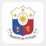 Escudo de armas de Filipinas Pegatina Cuadrada