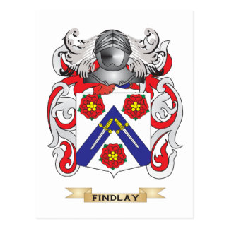 Escudo de armas de Findlay Tarjetas Postales