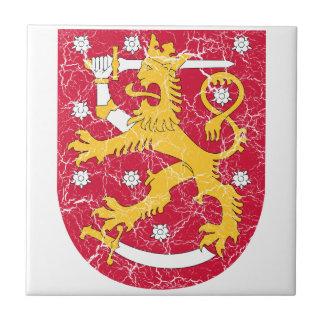 Escudo de armas de Finlandia Azulejos