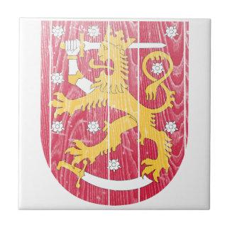 Escudo de armas de Finlandia Azulejos Ceramicos