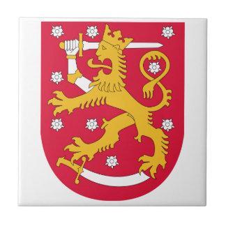 Escudo de armas de Finlandia Azulejo