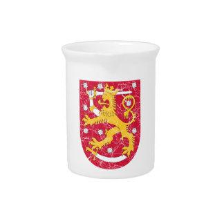 Escudo de armas de Finlandia Jarras Para Bebida