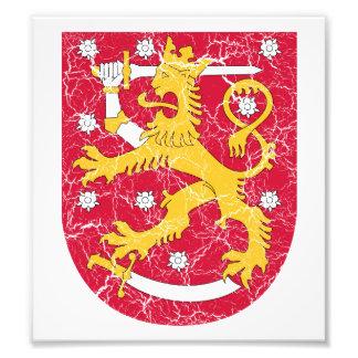 Escudo de armas de Finlandia Impresiones Fotográficas