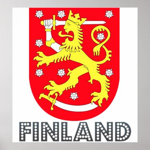 Escudo de armas de Finlandia Póster