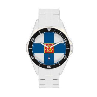 Escudo de armas de Finlandia Relojes De Pulsera