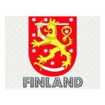 Escudo de armas de Finlandia Tarjeta Postal
