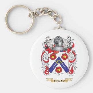 Escudo de armas de Finlay Llavero Redondo Tipo Pin