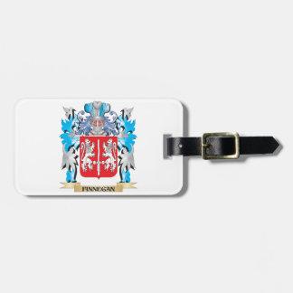 Escudo de armas de Finnegan - escudo de la familia Etiqueta Para Maleta