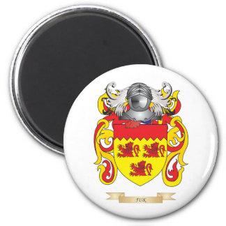 Escudo de armas de Fisk Imán Redondo 5 Cm