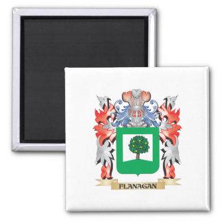Escudo de armas de Flanagan - escudo de la familia Imán Cuadrado