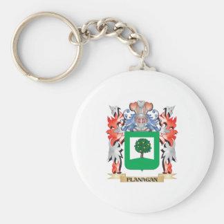 Escudo de armas de Flanagan - escudo de la familia Llavero Redondo Tipo Pin