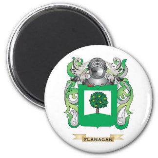 Escudo de armas de Flanagan Imán Redondo 5 Cm