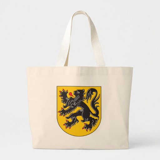 Escudo de armas de Flandes Bolsa Tela Grande