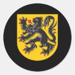 Escudo de armas de Flandes Etiquetas Redondas