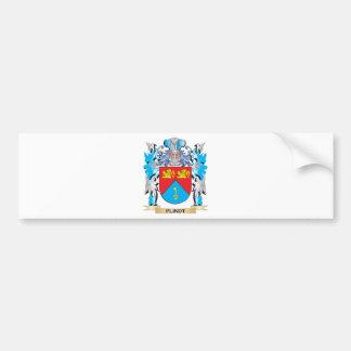 Escudo de armas de Flindt - escudo de la familia Pegatina De Parachoque