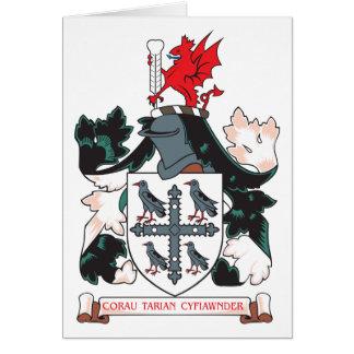 Escudo de armas de Flintshire Tarjeta De Felicitación