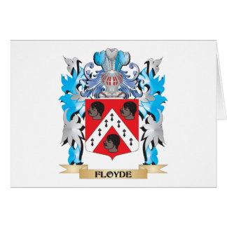 Escudo de armas de Floyde - escudo de la familia Felicitacion