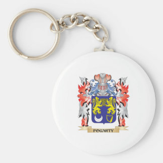 Escudo de armas de Fogarty - escudo de la familia Llavero Redondo Tipo Pin