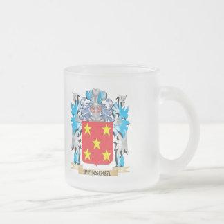 Escudo de armas de Fonseca - escudo de la familia Taza Cristal Mate