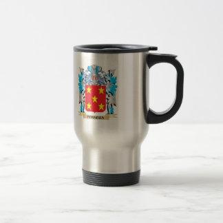 Escudo de armas de Fonseca - escudo de la familia Taza De Viaje De Acero Inoxidable