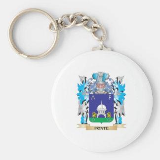 Escudo de armas de Fonte - escudo de la familia Llaveros Personalizados