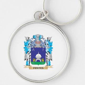 Escudo de armas de Fontes - escudo de la familia Llaveros Personalizados