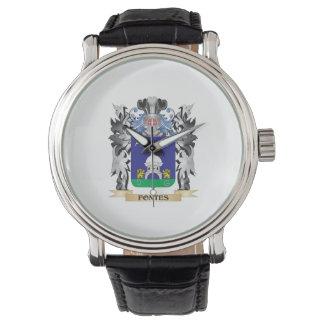 Escudo de armas de Fontes - escudo de la familia Reloj