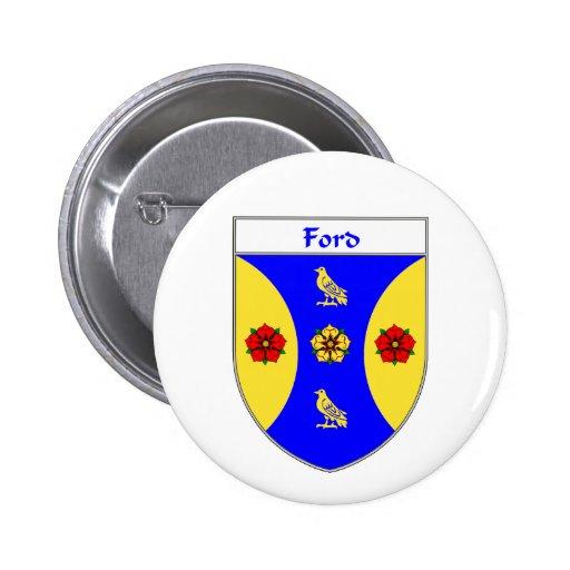 Escudo de armas de Ford/escudo de la familia Pin Redondo 5 Cm