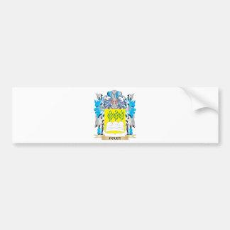 Escudo de armas de Fouet - escudo de la familia Pegatina De Parachoque