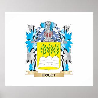 Escudo de armas de Fouet - escudo de la familia Impresiones