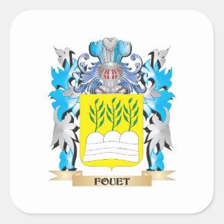 Escudo de armas de Fouet - escudo de la familia Calcomania Cuadradas Personalizadas