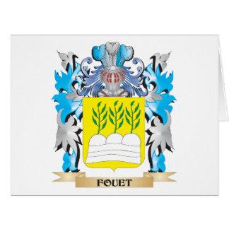 Escudo de armas de Fouet - escudo de la familia Felicitacion
