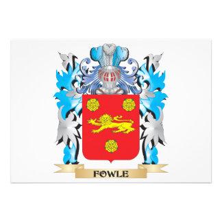 Escudo de armas de Fowle - escudo de la familia Invitacion Personalizada