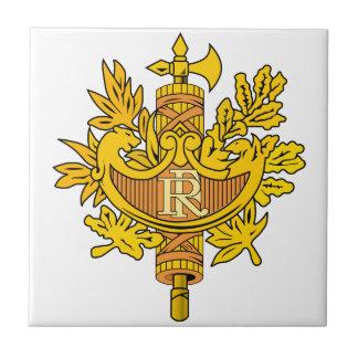 Escudo de armas de Francia Azulejo Cuadrado Pequeño