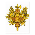Escudo de armas de Francia Postales