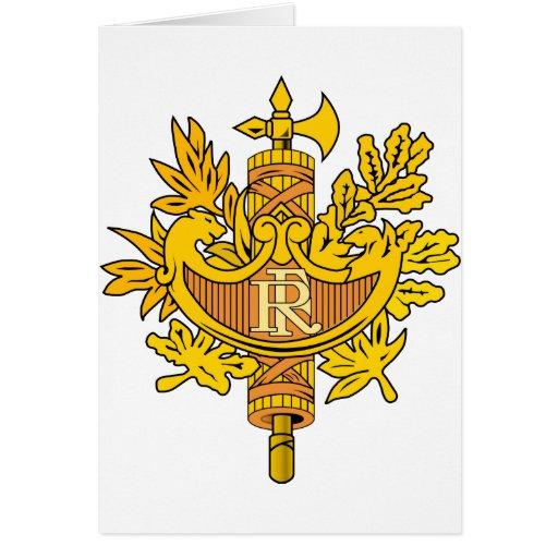 Escudo de armas de Francia Tarjeta De Felicitación